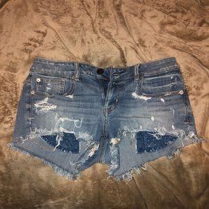 Denim jean shorts